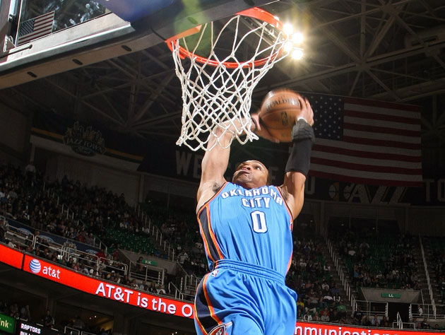Russell Westbrook dunks his Thunder one step closer to a playof…