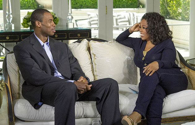 Jason Collins and his family visit Oprah for in-depth Sunday in…