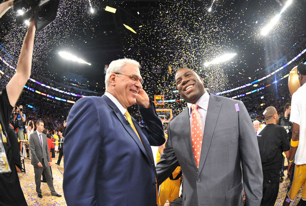 Magic Johnson tweets that he is 'mourning Phil Jackson not bein…