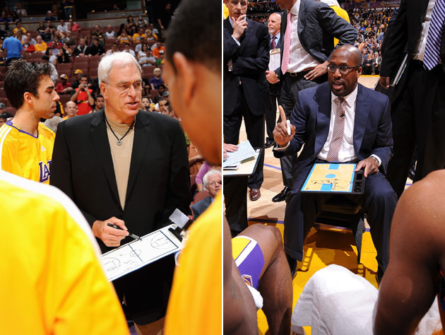 Phil Jackson and Mike Brown are both interviewed about the Lake…