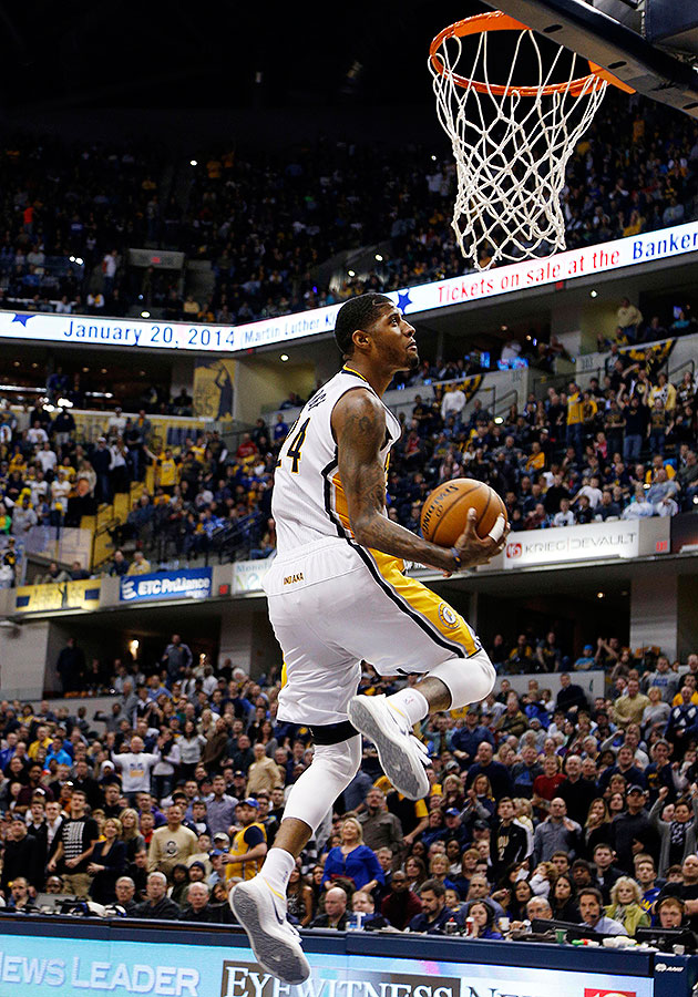 Paul George throws down Dunk of the Year-caliber 360 windmill s…