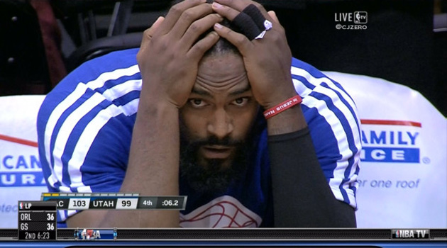 Create-a-Caption: Ronny Turiaf is disconsolate
