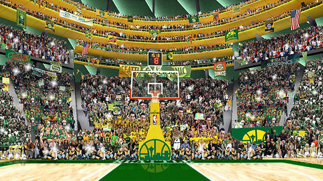 Potential Seattle SuperSonics owners release artist's rendering…