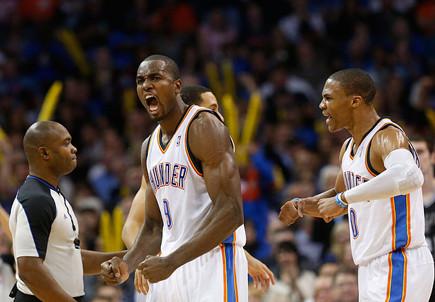 Serge Ibaka has career night as Thunder trounce Spurs for 11th …