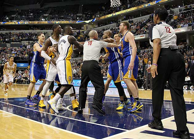 Hibbert, Lee suspended after Warriors-Pacers fight