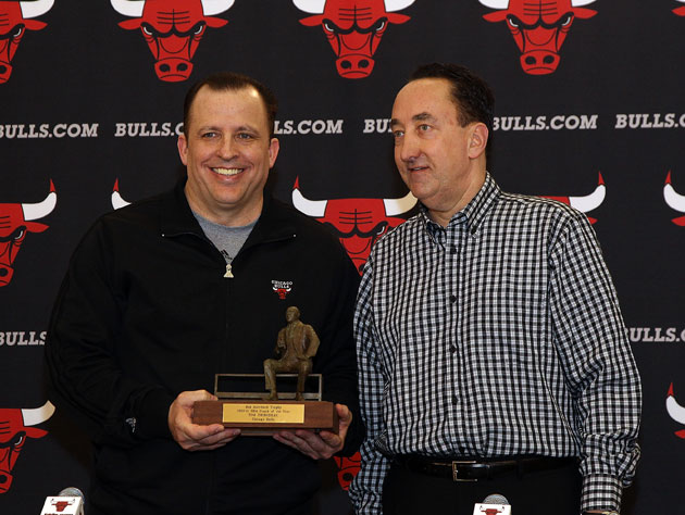 Chicago Bulls coach Tom Thibodeau swears that he and GM Gar For…