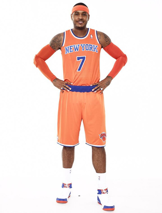 Here are the New York Knicks' new orange alternate uniforms (Ph…