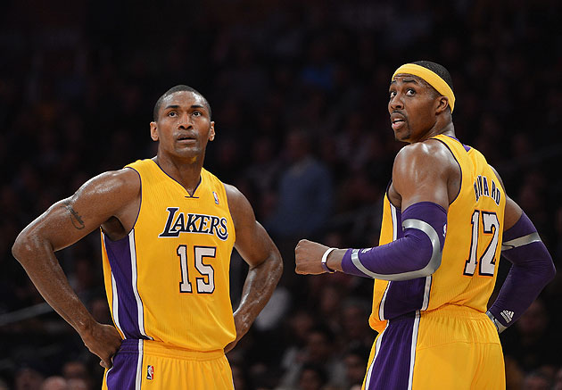 Lakers' World Peace, Howard out vs. Nets