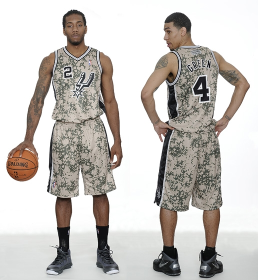 Here are the Spurs' new military-inspired camouflage alternate …