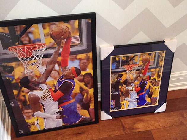 Roy Hibbert's hanging pictures of his huge block on Carmelo Ant…