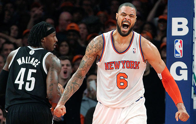 Tyson Chandler oops all of the alleys all over the Nets' heads …