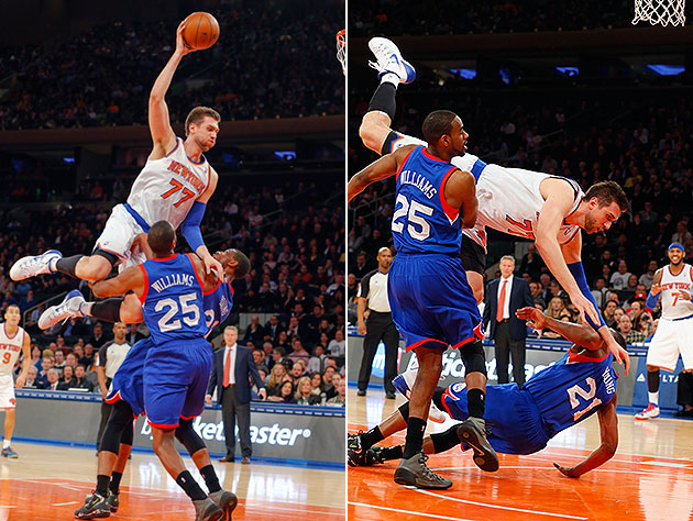 Knicks' Andrea Bargnani really, *really* cannot dunk from that …
