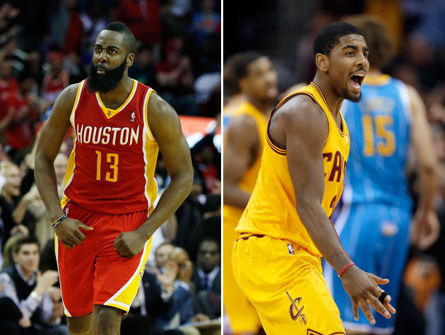 James Harden's 46 vs. Kyrie Irving's 35: Who ya got? (VIDEOS)