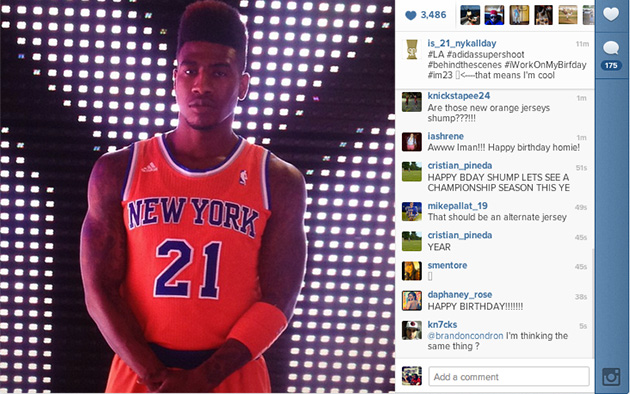 Did Iman Shumpert leak a new orange alternate New York Knicks j…