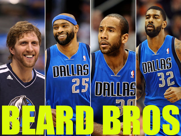 Most of the Dallas Mavericks won't shave until the team hits .5…