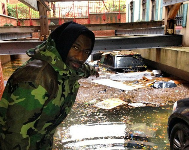Hurricane Sandy put Amar'e Stoudemire's car underwater (PHOTO)
