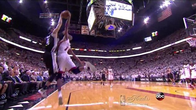 Chris Bosh blocks Danny Green's game-tying 3 to save Game 6 for…
