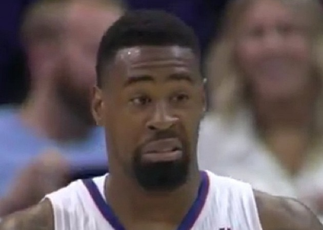 DeAndre Jordan obliterates Brandon Knight with a ferocious dunk…