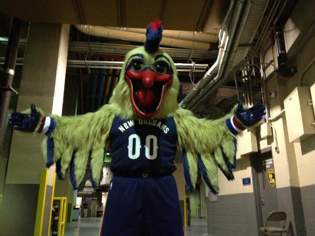Here's your first look at Pierre, the New Orleans Pelicans masc…