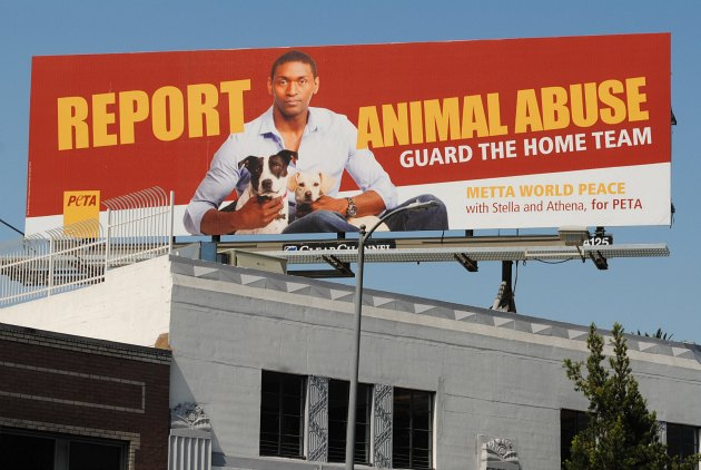 Metta World Peace wants to stop animal abuse (Video)