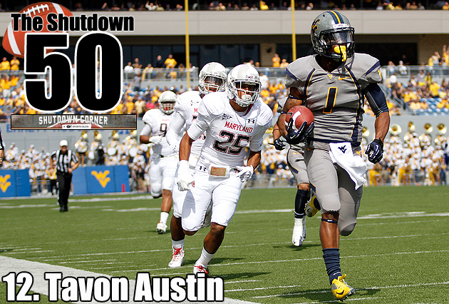 The Shutdown 50: West Virginia WR Tavon Austin