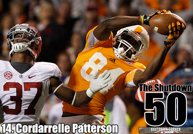 The Shutdown 50: Tennessee WR Cordarrelle Patterson