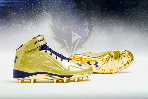 Ray Lewis and the Baltimore Ravens will have super sparkly shoe…
