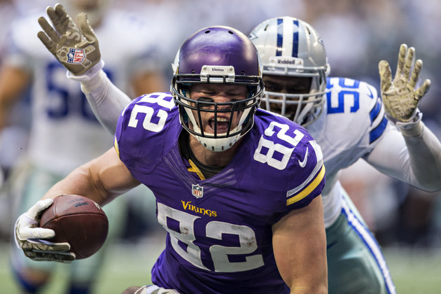 Vikings get more bad news as Kyle Rudolph is out at least a mon…
