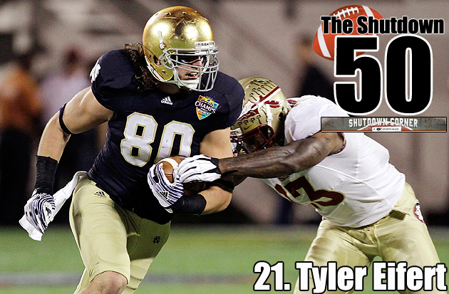 The Shutdown 50: Notre Dame TE Tyler Eifert