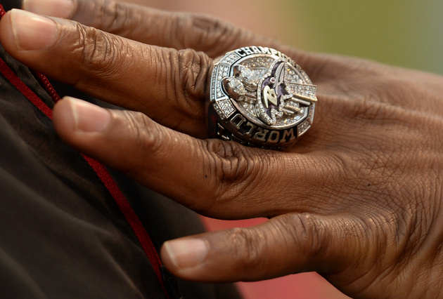 One of last season's Ravens Super Bowl rings already being sold…