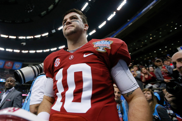 Alabama quarterback A.J. McCarron's absence at Senior Bowl has …