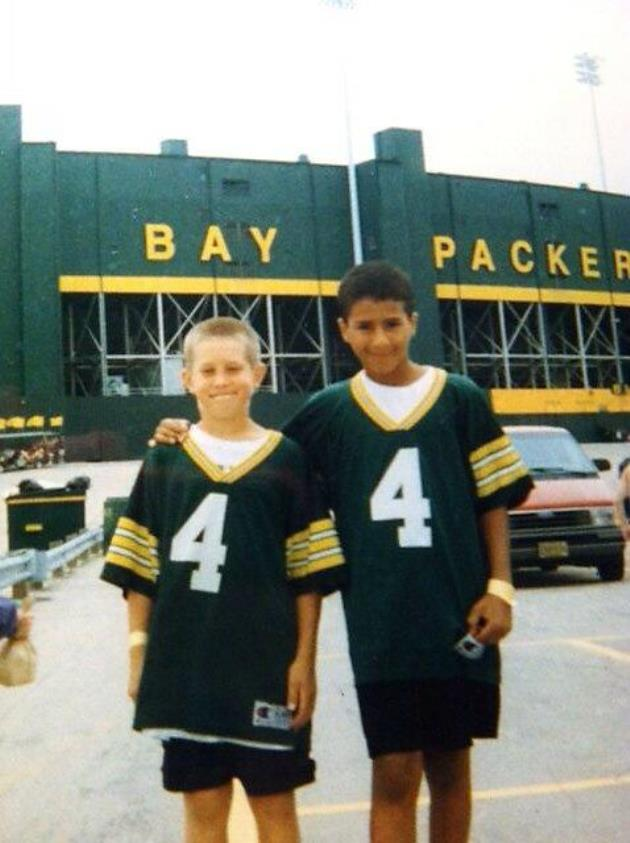 Check out Wisconsin native Colin Kaepernick wearing a Packers j…