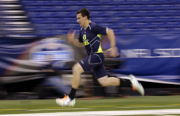NFL Draft: Johnny Manziel and Mike Evans impress in 40 and spee…
