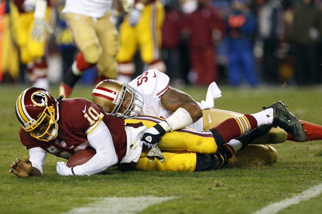 49ers linebacker Ahmad Brooks on Robert Griffin III: 'He should…
