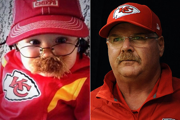 Cutest. Andy. Reid. Costume. Ever.
