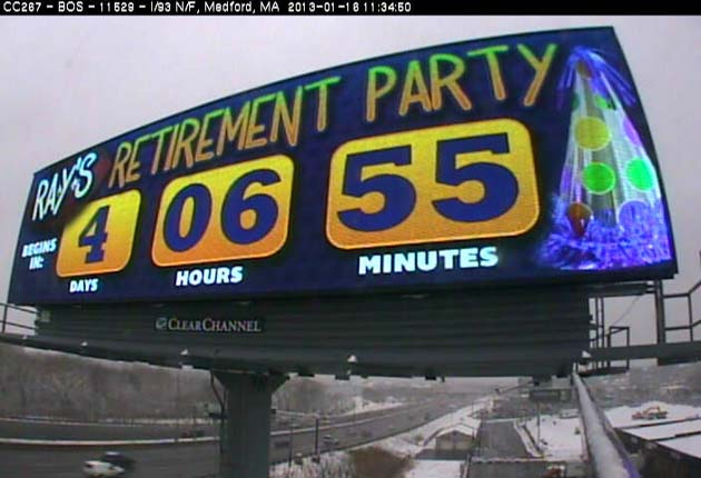 Billboard in New England says Ray Lewis' 'retirement party' is …