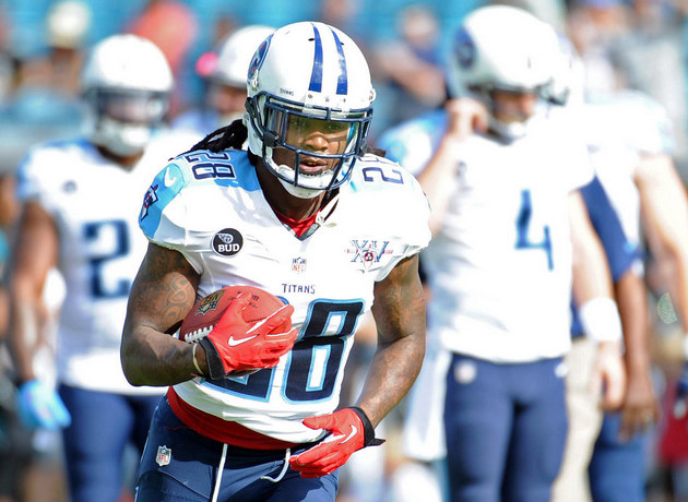 Titans running back Chris Johnson reportedly played with a meni…