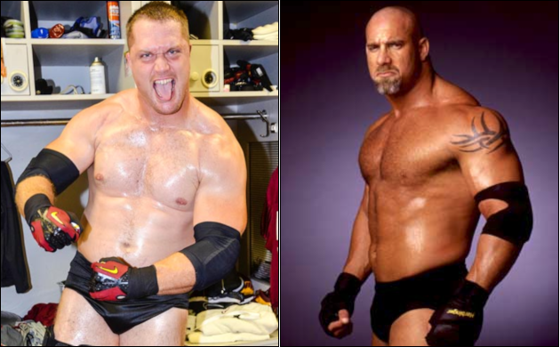 Adam Carriker loses bet, dresses up like pro wrestler Goldberg