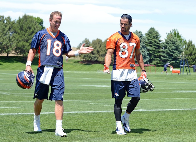 Broncos quarterback Peyton Manning plays prank on wide receiver…