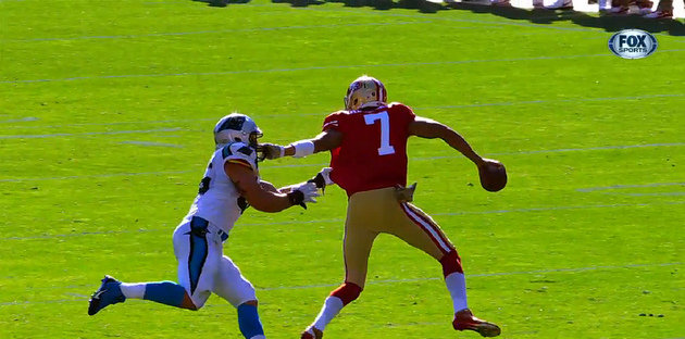 Who says defensive players get all the fines? Colin Kaepernick …