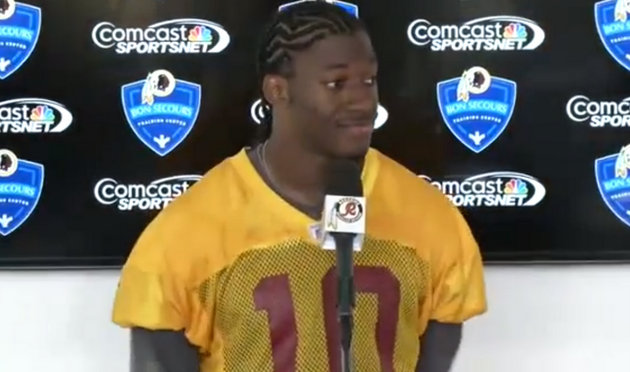 Robert Griffin III not thrilled over team's patient recovery pl…