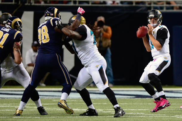 Jaguars quarterback Blaine Gabbert leaves game against Rams wit…