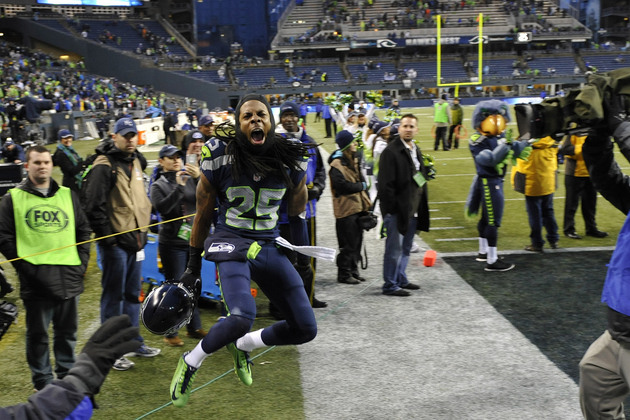 Seahawks cornerback Richard Sherman continued his postgame rant…