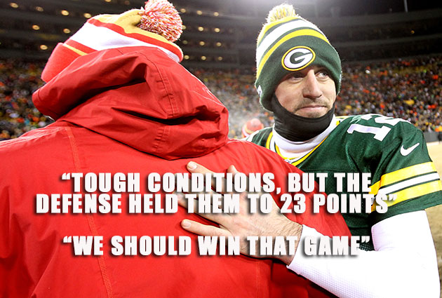 Aaron Rodgers chose to shoulder a lot more playoff blame than A…