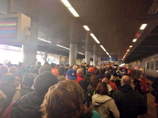 NFL fans collapse at Jersey train station en route to Super Bow…