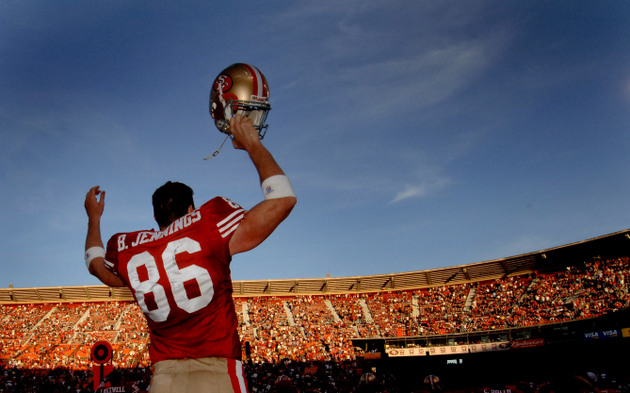 Released 49ers long snapper Brian Jennings shows how to exit wi…