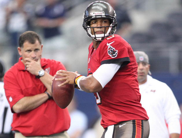 Josh Freeman is suddenly getting praise from Tampa Bay Buccanee…