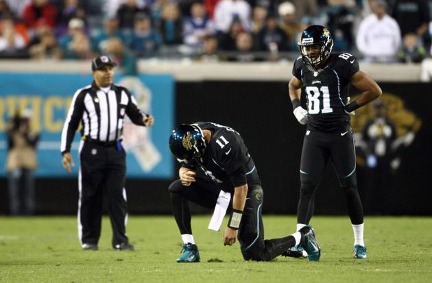Jacksonville Jaguars, apparently content with Blaine Gabbert, k…