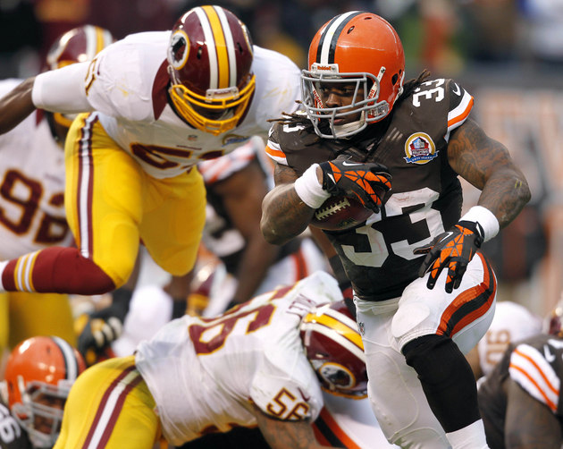 Trent Richardson reports for training camp and is healthy, read…