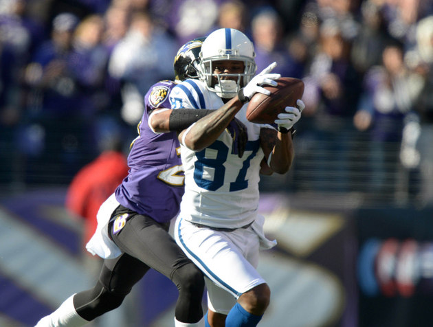 Reggie Wayne shows up to Indianapolis Colts training camp in a …